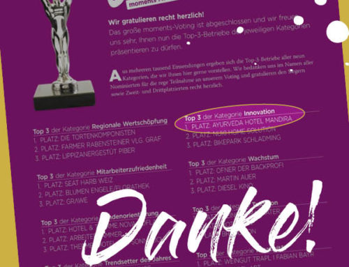 "moments AWARDS 2020 – Platz 1. in der Kategorie ""Innovation"""
