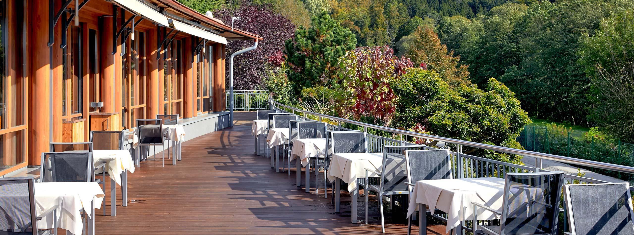 Our hotel in Bad Waltersdorf – the Mandira's sun terrace